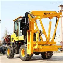 公路护栏桩工程专用装载机式一体机机械