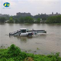 水葫芦水花生收割船 芦苇收割割草船