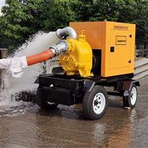 应急防汛泵车 赢华10寸大流量柴油机抽水泵